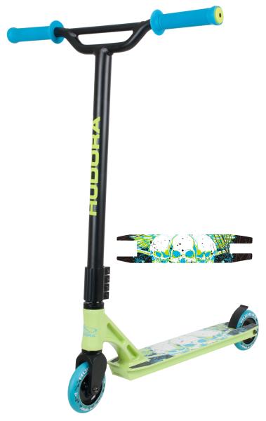 Stunt Scooter YY-11, grün/blau