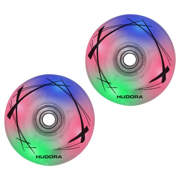 2 LED Ersatzrollen, 64mm x 22mm für Inline Skates