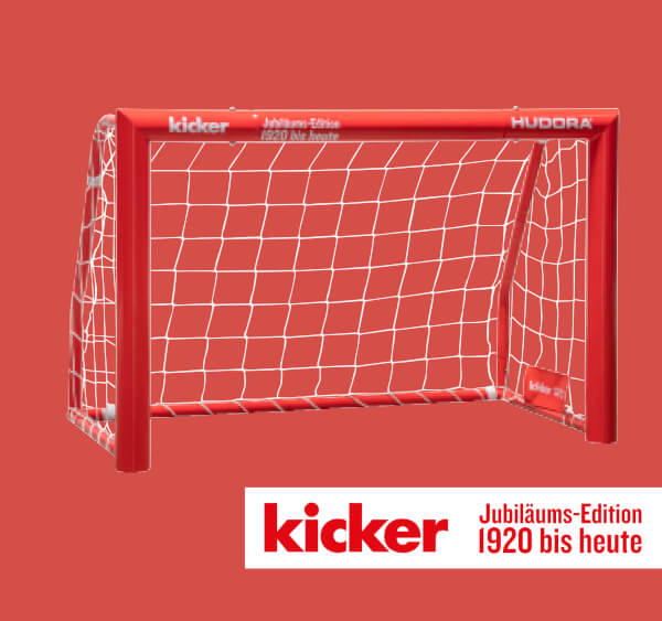"""HUDORA Fußballtor Expert 120 """"kicker Edition"""""""
