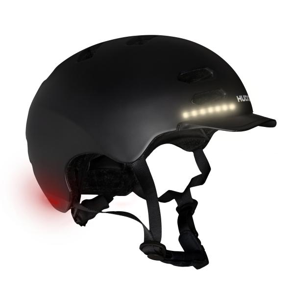 HUDORA Skaterhelm LED, schwarz
