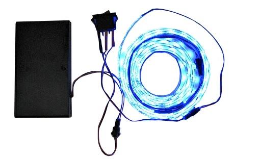 2 LED Lichtschlauch, mit Batteriefach und Schalter, für Kickertische Stadion und Neapel