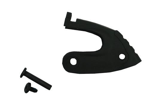 1 Stopperhalter inkl. Schraube, schwarz