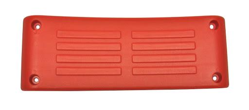1 Kunststoffsitzschale, rot
