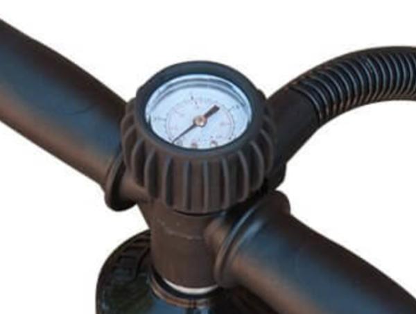 Manometer zu Pumpe von Stand up