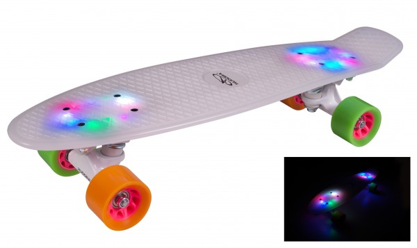 HUDORA Skateboard Retro Rainglow 22""