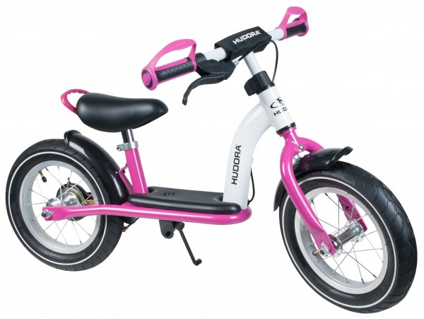 "HUDORA Laufrad Cruiser Girl Alu, 12"", weiß/pink"