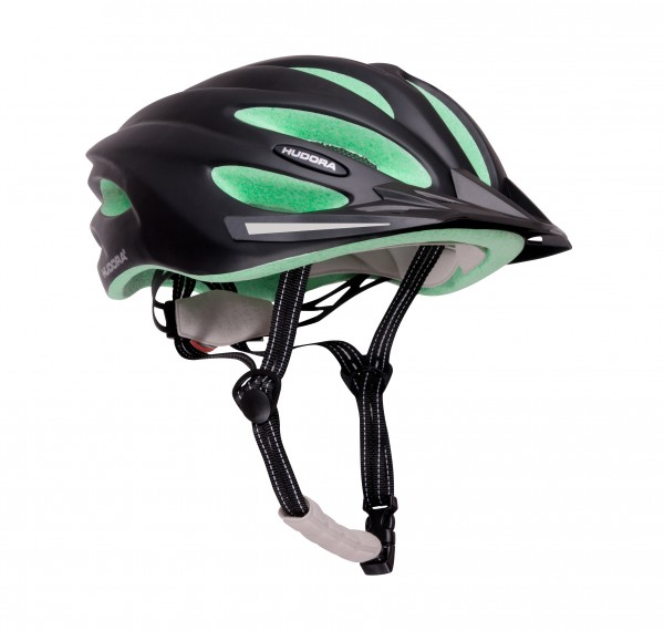 Fahrradhelm Basalt, Gr. 49-63, schwarz/grün