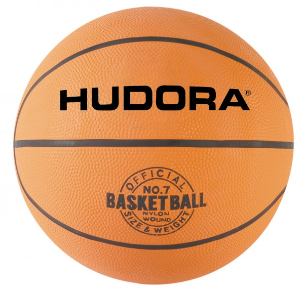 HUDORA Basketball, Gr. 7, orange, unaufgepumpt