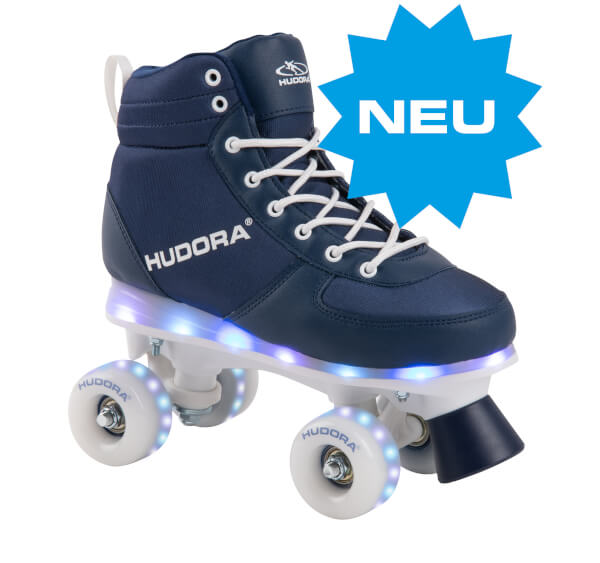 HUDORA Roller Skates Advanced, navy LED, Gr. 29-38