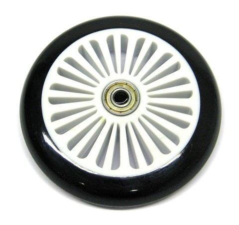 1 Ersatzrolle 120 mm, inkl. ABEC-5 Kugellager, weiß/schwarz