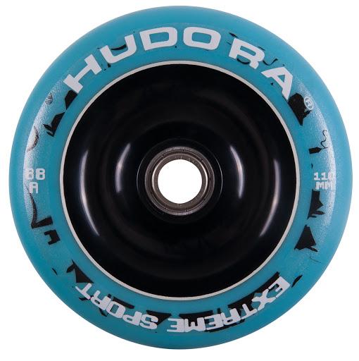 1 Wheel Alu Core inkl. Chrom-Kugellager ABEC-7 türkis/schwarz