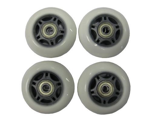 4 Ersatzrollen, 64x24 mm, weiss inkl. ABEC-3 Kugellagern