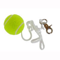 Ball mit Schnur und Karabinerhaken