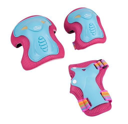Protektorenset Skate Wonders, Gr. S-M, türkis/pink