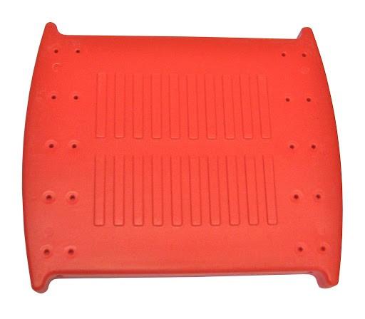 1 Kunststoffbodenschale, rot