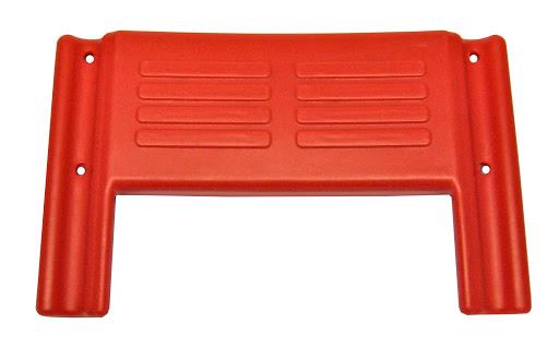 1 Kunststoffrückenschale, rot