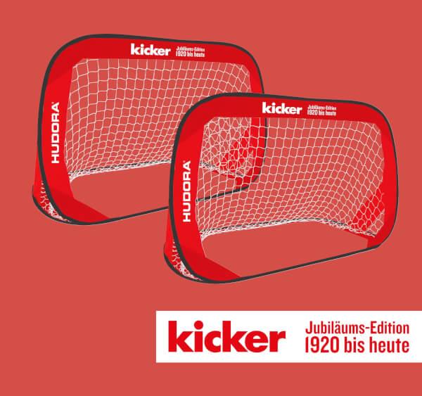 """HUDORA Pop Up Fußballtor """"kicker Edition"""", 2er Set"""