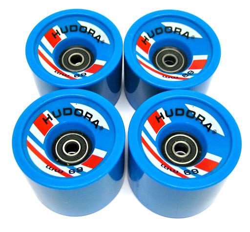 4 Ersatzrollen 78A High Rebound 69 x 55 mm, mit Kugellager Abec 7 Cruising Lager, blau