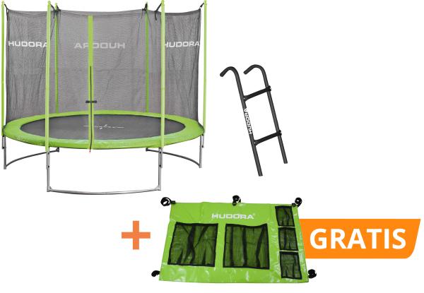 Set: Family Trampolin 300V mit Leiter und kostenlosem Trampolin Butler