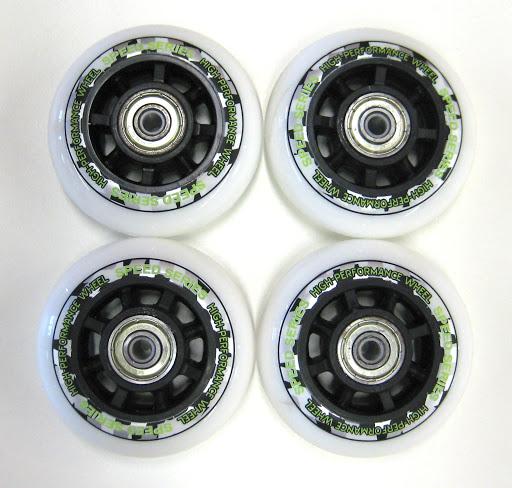 HUDORA_4 Ersatzrollen 70 x 22 mm, weiß mit Druck, inkl. ABEC-7 Kugellager, für Inlineskate RX-21 Gr. 29-32_WS33284.jpg