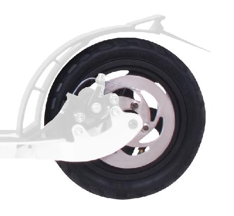 1 Ersatzrad mit Luftbereifung und Scheibenbremse 205 mm, hinten