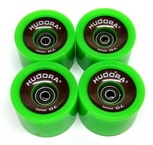 HUDORA_4 Ersatzrollen 78A High Rebound 70 x 51 mm, mit Kugellager Abec 7 Cruising Lager, grün_WS40038.jpg
