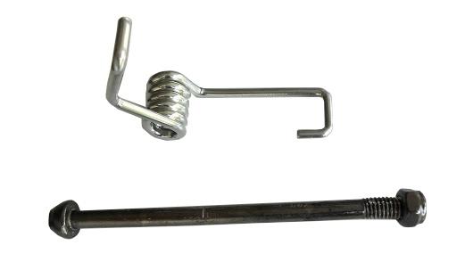 Befestigungsschraube und Feder für Bremsblech