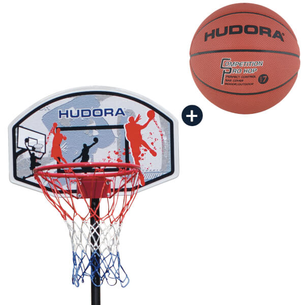 HUDORA Basketballständer All Stars 205 mit Basketball (Bundle)