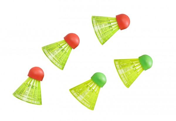 Ersatzball für Badmintonset Speed, 5 Stück