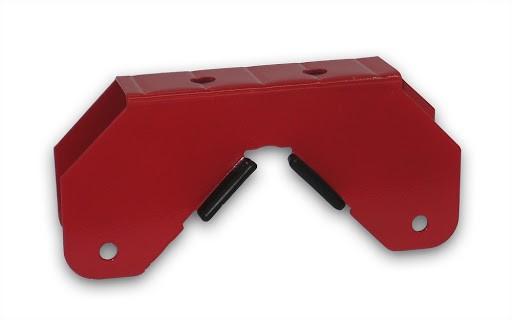 1 Rohrklemme, rot, für Schaukelgestelle HD700 und HD800