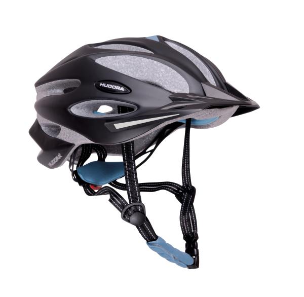 HUDORA Fahrradhelm Granit, Gr. 55-61, schwarz/blau
