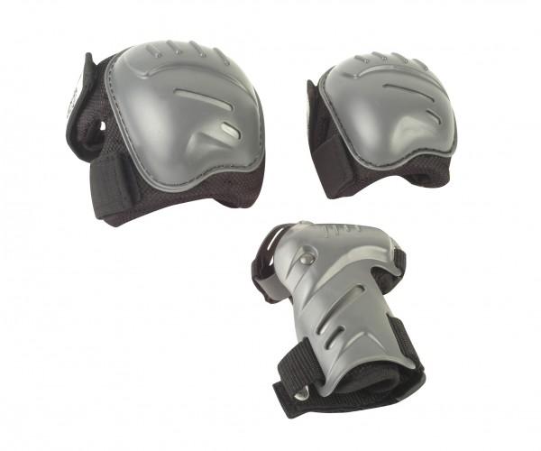 HUDORA Biomechanisches Protektorenset, Gr. S-L, schwarz/grau