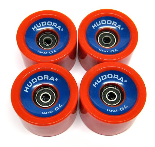 HUDORA_4 Ersatzrollen 78A High Rebound 70 x 51 mm, mit Kugellager Abec 7 Cruising Lager, rot:blau_WS39969.jpg